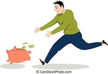 dinheiro, perseguindo