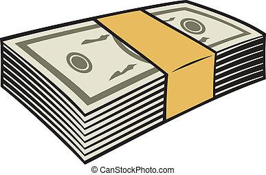 dinheiro, pilha