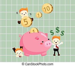 dinheiro, poupar