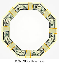 dinheiro, quadro, fundo, em branco