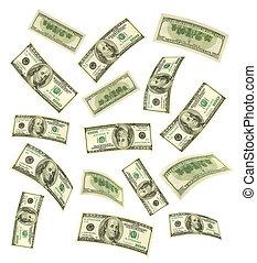 dinheiro, queda