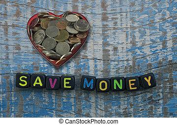 dinheiro, salvar, dices, palavras