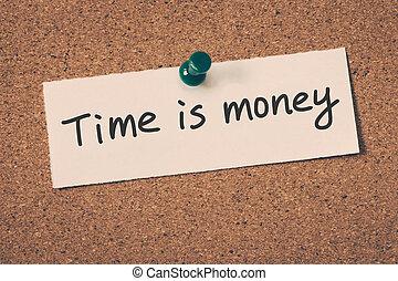 dinheiro, tempo