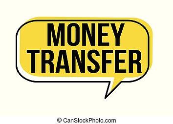 dinheiro, transferência, borbulho fala