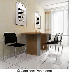 dining area in a modern office
