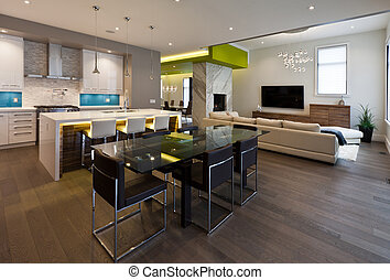 Dining area in new luxury house