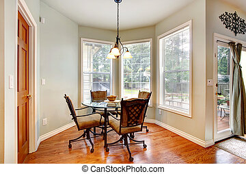 Dining area with antique table set