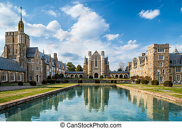 Dining hall at Berry College - Historic dining hall at Berry...