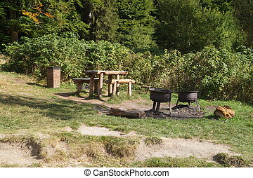 Dining place in the forest