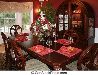Beautiful upscale formal dining room
