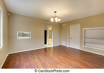 Dining room empty new with nice hardwood