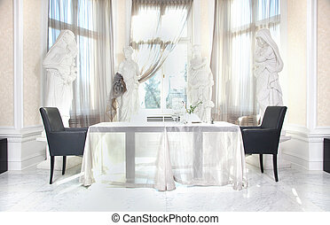 Dining room in beautiful home