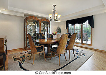 Dining room in luxury home