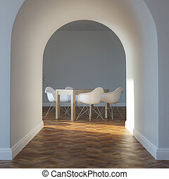Dining Room In Minimalist Interior
