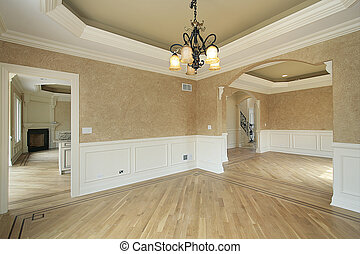 Dining room in new construction home