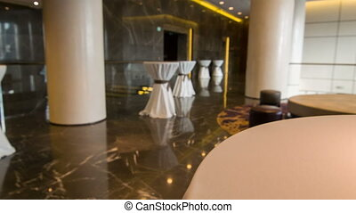 Dining room in the hotel - Elegant restaurant hall in the...