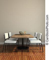 dining-room, parte, moderno