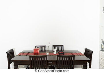 Dining Room - A dining room with large wall space