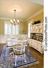 dining room - classically decorated diningroom with china...