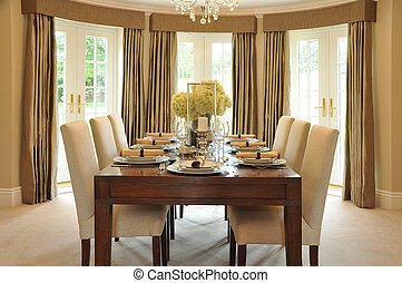 Dining Room - The dining room of an interior designed luxury...