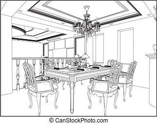 Dining Room Clip Art And Stock Illustrations 5168