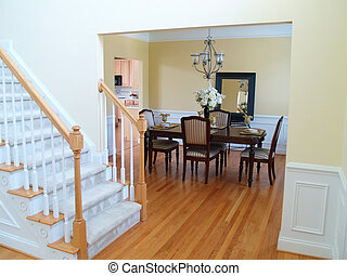 Dining Room View - A well staged dining room viewed from the...