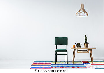 Dining room with copy space