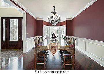 Dining room with foyer view