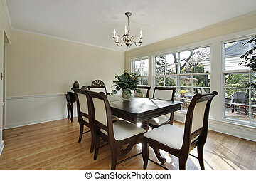 Dining room with patio view - Dining room in remodeled home...