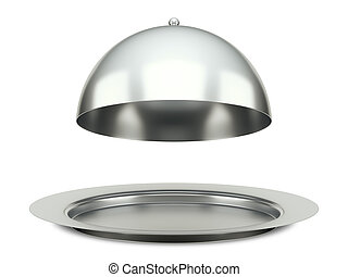 dining silver cloche platter - An image of a dining silver...