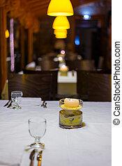 Dining table in elegant italian restaurant - Romantic dining...