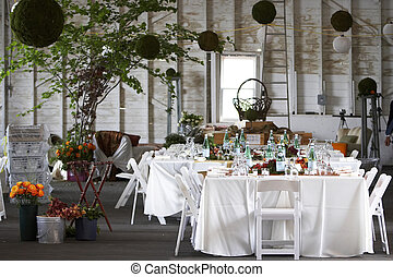 table setting for a wedding or dinner event