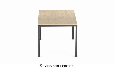 Dining table spin on white background