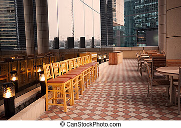 Dining tables and chairs outdoor