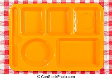 Tray dining polycarbonate for use in school canteens
