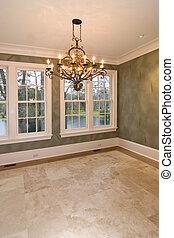 diningroom, vide, vue