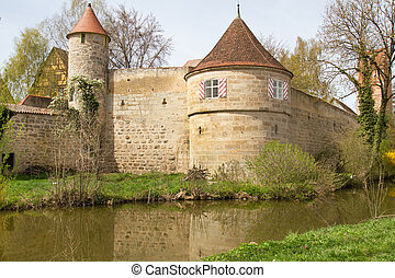 Dinkelsbuehl, City Wall with Defense Tower