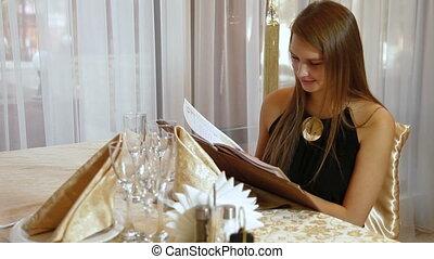 dinner in  restaurant