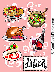 Dinner Menu Pictures - Different Food and Drinks Dinner Menu...