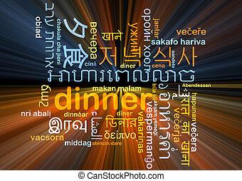 dinner multilanguage wordcloud background concept