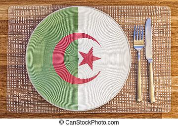 Dinner plate for Algeria