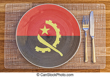 Dinner plate for Angola