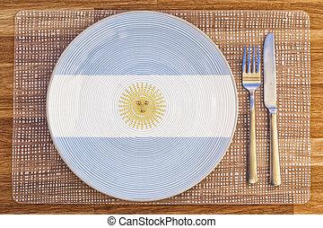 Dinner plate for Argentina