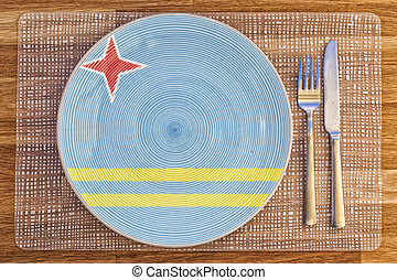 Dinner plate for Aruba