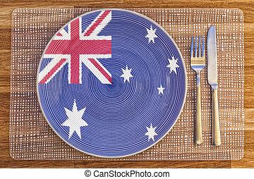 Dinner plate for Australia