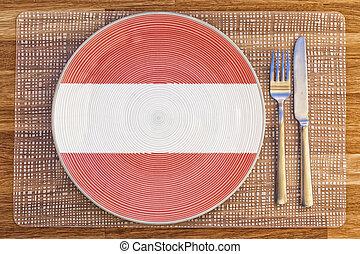 Dinner plate for Austria