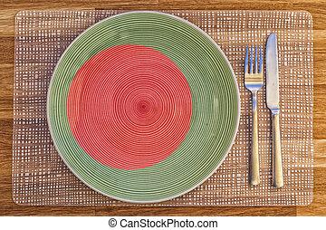 Dinner plate for Bangladesh