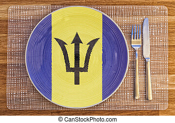 Dinner plate for Barbados