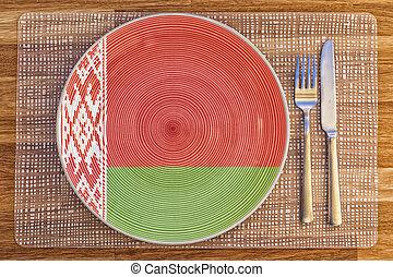 Dinner plate for Belarus