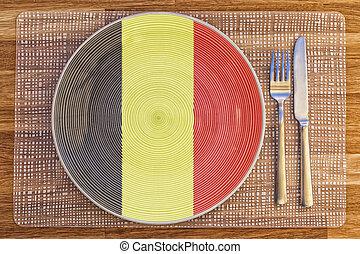 Dinner plate for Belgium